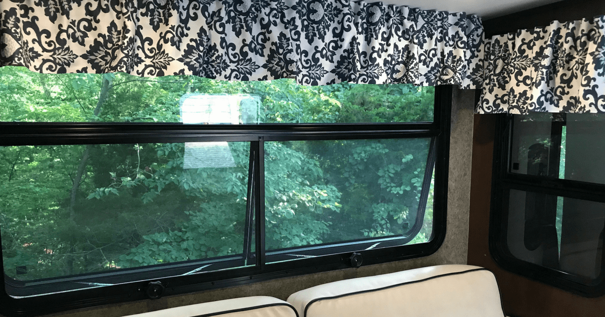 How To Re Cover Rv Window Valances No Sewing Wheeling To Dream