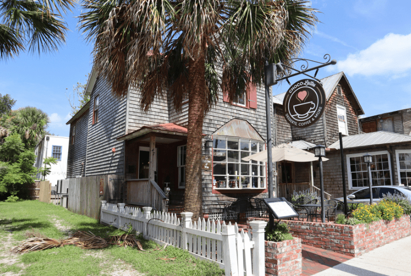 exterior coffee shop chocco lattes in St Augustine