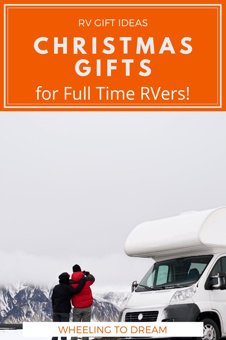 Are you looking for Christmas gift ideas for RV owners? Here is a list of practical gift ideas for RV owners. Take a look at this gift guide for rvers and make your full time rv family life easier and more fun. This gift guide includes gifts for adults & kids! When our family asked us for gift ideas for full time travelers we knew we didn't want to add anymore clutter to our RV. #rvliving #rvfulltime #rvlifestyle #rvlivingfulltime #giftguides #christmasgiftguide