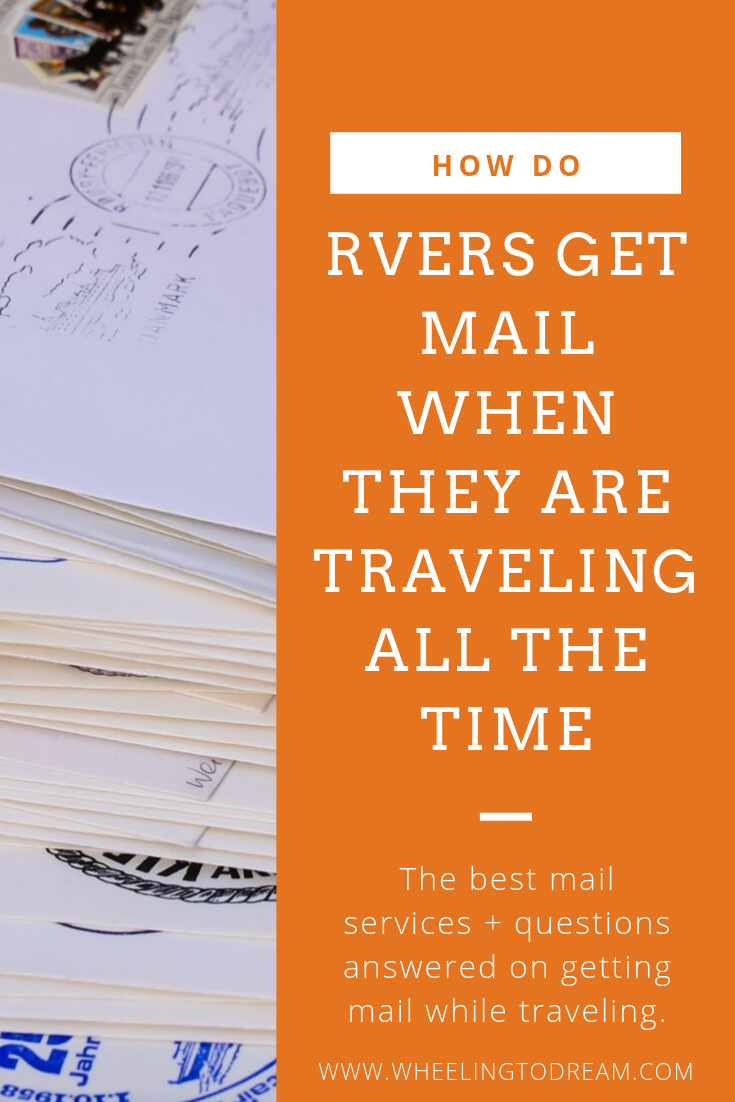 How do RVers get mail? Learn how to manage full time RV living and the mundane tasks that require us to be adults. Living in an RV full time doesn't mean you just don't get mail anymore! Get your mail with ease by choosing an RV mail forwarding service that works for you. Get your mail no matter where you are. #rvliving #rvlifestyle #rvlivingfulltime #rvlifestyle
