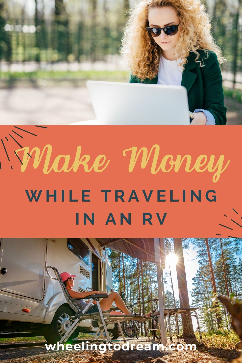 Are you wondering how in the world you can make money while you travel? Look no further! This blog post is a great resource for ways you can turn your current skills into an income plus other options like workamping and more! Learn how to making money traveling and fund your adventures and make your dreams come true. Get paid to travel with family! This is surely to help RV living full time with kids easier if you can make money while you're doing it. #makemoneytraveling #getpaidtotravel