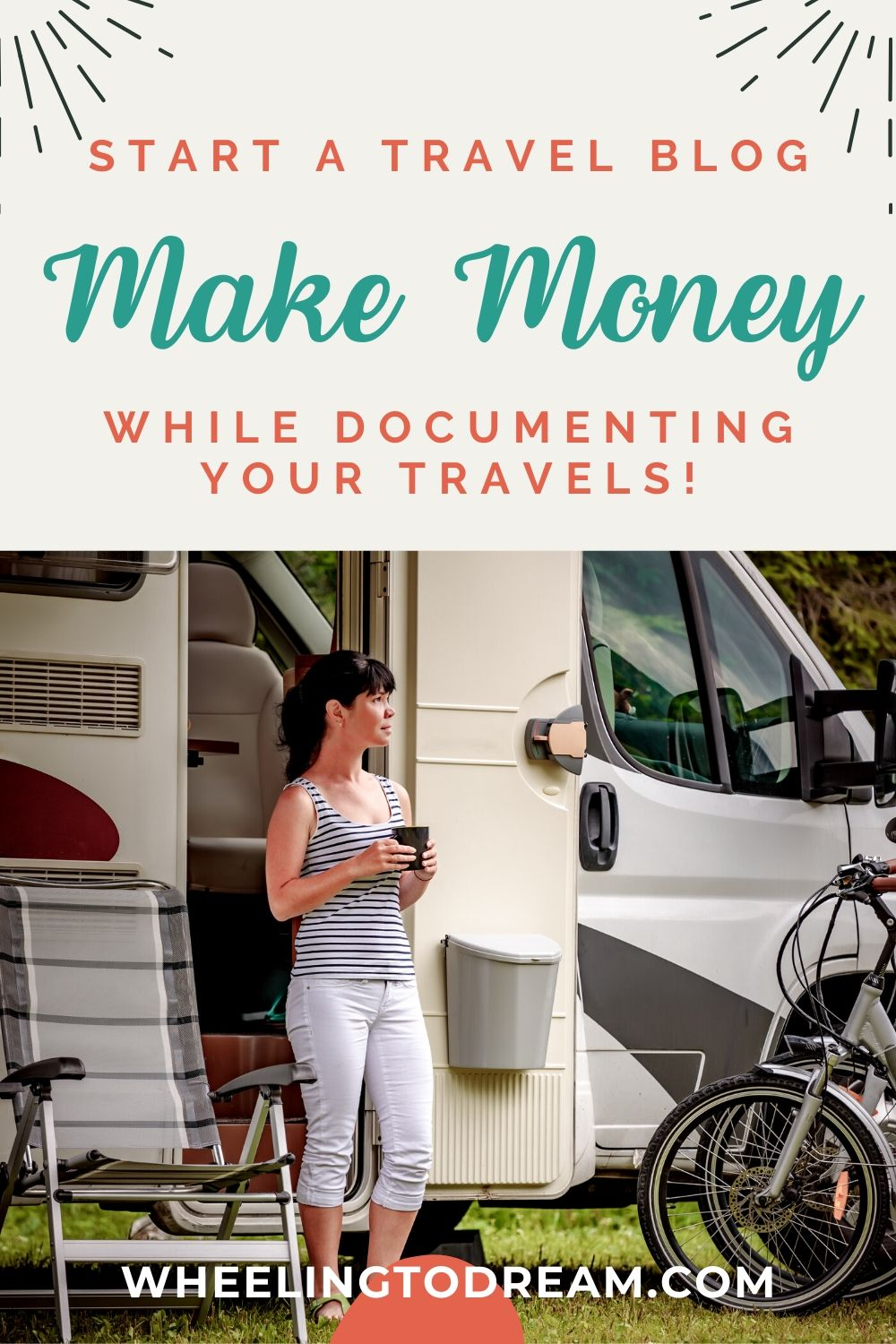 This is just what I was looking for! Are you traveling full-time and wondering how you can make money traveling? Learn how to start a blog and make money online from it so it can help you fund your travels and continue to have fun. We travel full-time with kids and blogging is part of our method for making money to fund our travels. We enjoy the full-time RV lifestyle so much we turned it into a way to make money for us. Are you ready to start a blog? #startablog #travelblog #makemoneyonline