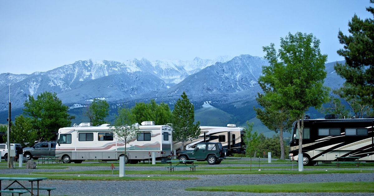 motorhomes parked in rv campground mobile rv repair service